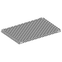 Plastic paving grids gravel driveway grid diamond Grid for mine/golf/car parking