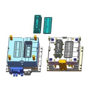 China dos tiros moldean multi-cavidades herramientas de plástico H13 moldes