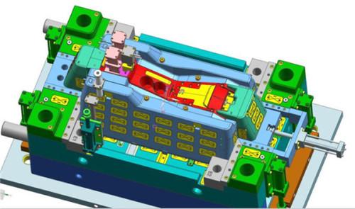 Creaciones de molde de inyección 2K y 3D para estuche de plástico moldeado y caja de paso