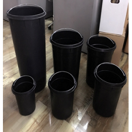 Trash Can Plastic Mold Design Fabricación Basura Can Injection Mold