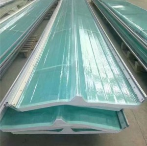 FRP GRP Fiberglass Double skin Skylight roof panel sheet
