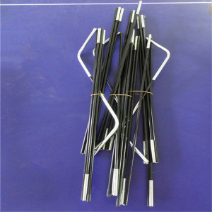 6.9mm pop-up FRP Fiberglass flexible tent poles / Rod / Sticks
