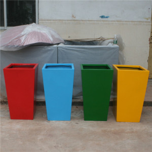 Fiberglass plant pots