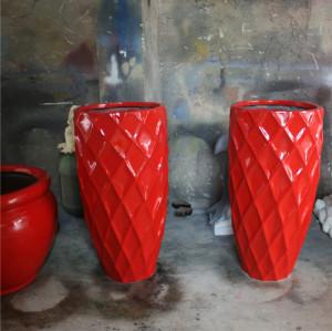 FRP GRP Fiberglass Flower Pot