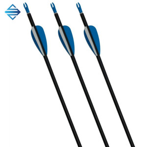 Plastic feather fiberglass arrow shaft for hunting