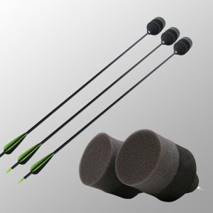 7.8mm fiberglass arrow shafts With Spongy arrowhead