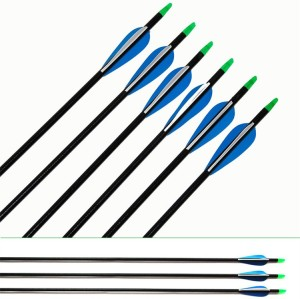 7mm Mix carbon fiber arrow shaft with Fixed Round Pointed Arrow Head