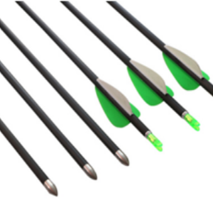 6.2mm Pure carbon fiber arrow shaft with Fixed Round Pointed Arrow Head