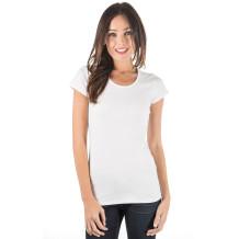 zhAjh Womens Cotton Spandex Scoopneck Short Sleeve Tee
