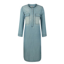 zhAjh Womens 95% Lyocell  5% Spandex Henlay Neck 3 quarters Sleeve Casual A Line Dress with Pockets