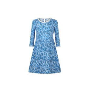 zhAjh Girls 100% Combed Cotton Spandex Jersey with Keys Print Lace 3/4 Sleeve Midi Dress