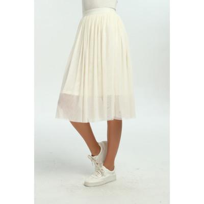 zhAjh Womens 100% Nylon Mesh Knee Length Swing Fully Lined Skirt
