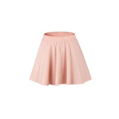 zhAjh Girls 95% Cotton 5% Spandex Knit Jersey Glitter Printed Elastic Waistband A Line Swing Skirt