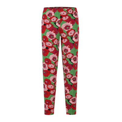 zhAjh Girls 95% Cotton 5% Spandex Jersey Printed Elastic Waistband Legging