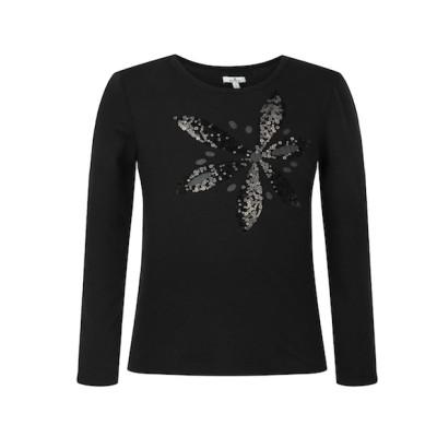 zhAjh Girls 95% Cotton 5% Spandex Jersey Scoop Neck  Long Sleeve Graphic Fashion Top