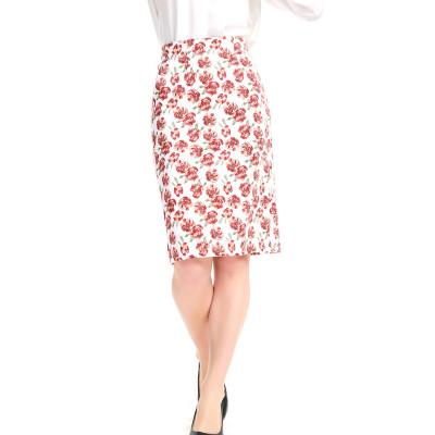 zhAjh Womens TR Spandex Blend Ponte Formal Office Knee Length Pencil Skirt