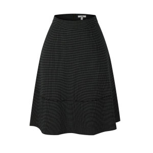 zhAjh Womens TR Spandex Jacquard Black Dot Fully Lined Knee Length Circle Skirt with Pockets