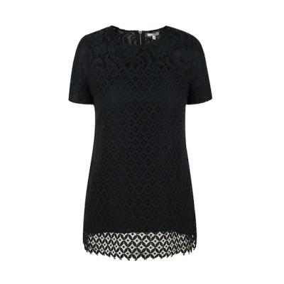 zhAjh Womens Cotton Nylon Rayon Fully Lined Metal Zipper Laces Shell style Short Sleeve Fashion Top