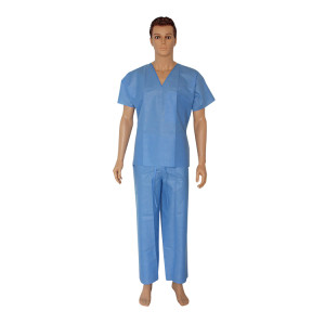 Disposable SMS nonwoven scrub suit for doctor