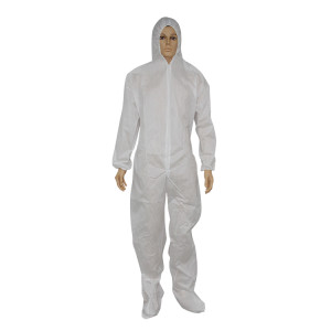 Disposable nonwoven protective clothing coverall