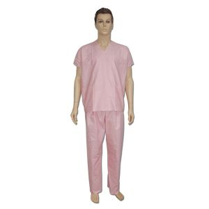 Disposable Spunlace nonwoven scrub suit for doctor