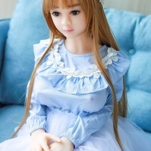 100cm Small Sex Doll TPE Material Metal Skeleton Solid Love Doll 3 Entrances Vagina Anal Mouth
