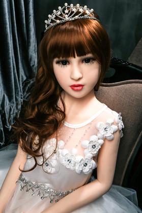 Petite girl silicone sex doll 115cm /3.77FT 3 Entrances Super Realistic