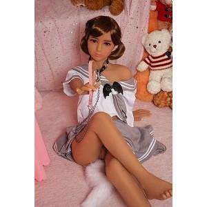 136cm Japanese sex doll silicone realistic skin 3 entries tan skin