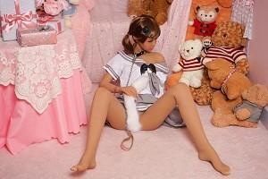 AXB 136cm Japanese sex doll silicone realistic skin 3 entries tan skin