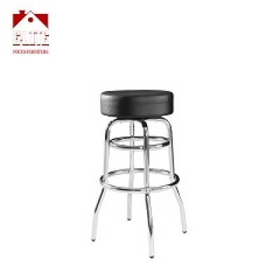 Cheap Promotion Metal Frame Chrome Plated Swivel Used Commercial Restaurant Bar Stools