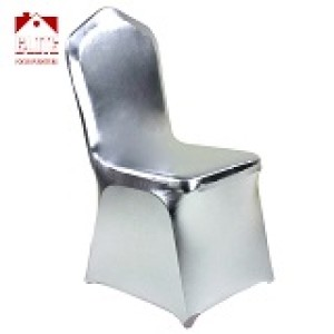 Spandex Bronzing Elastic Chair Cover Covering Band Universal for Wedding Party Hotel Banquet Chair Decoration Silver