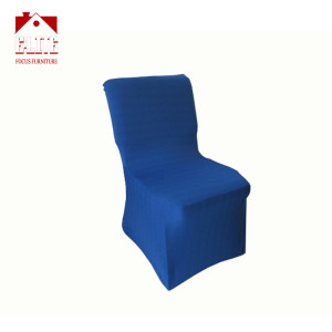 Blue Color Stretch Spandex Chair Covers For Church