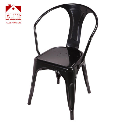 Dining Chairs Industrial Metal Stackable Cafe Chairs