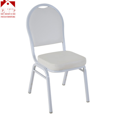 Wholesale Cheap Commercial Durable White Banquet Chair Mould Foam For Party