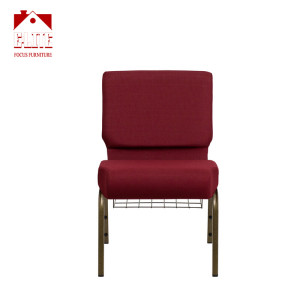 Factory supplier durable worship chairs with bookrack CA117 for sale