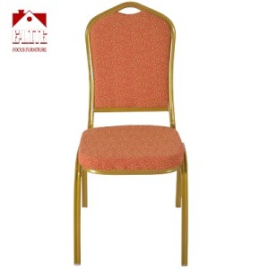 Wedding furniture Stackable banquet chair groove tube For Restaurant