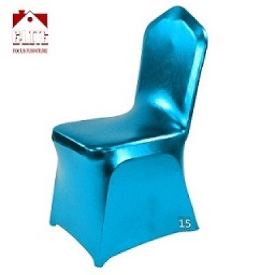 Manufacturer hot sale metallic chair cover for wedding