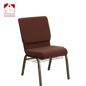 UK Standard Fire Resistant Brown Color Stackable Prayer Chair for Church