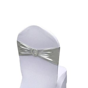Chair Cover Stretch Band With Buckle Slider Sashes Bow ,Wedding Banquet Party Chair Decoration