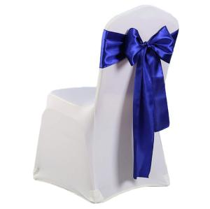 Satin Chair Sashes for Weddings Banquet Chair Decor Event Party Supplies Satin Chair Bows