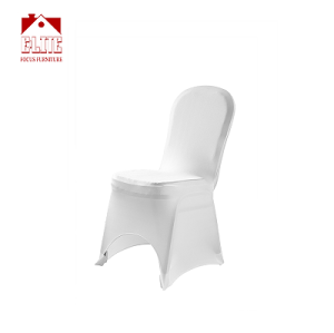 White Color Polyester Spandex Banquet Wedding Party Chair Covers