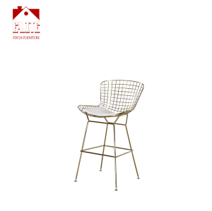 Wholesale Outdoor Modern Cheap Metal Wire Side Chair Cafe Dining Chair For Sale