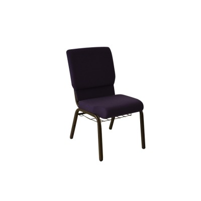 GOLD VEIN STEEL STACKING CHURCH CHAIR CA117 WITH BOOKCASE