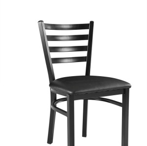 METAL FRAME LADDER BACK HIGH QUALITY RESTAURANT CHAIR