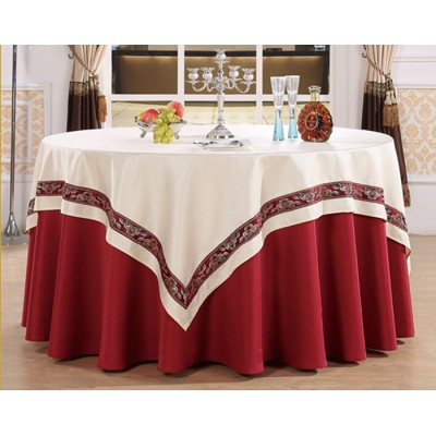 PLAIN WEAVED RESTAURANT TABLE CLOTH FOR WEDDING