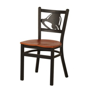 WHOLESALE METAL FRAME WOODEN SEAT CHIC RESTAURANT CHAIR