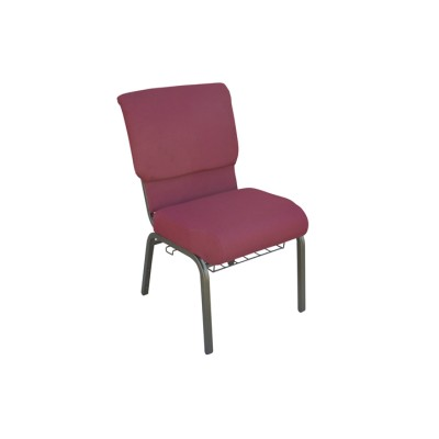 GOLD VEIN STEEL STACKING CHEAP CHURCH CHAIR CA117 WITH BOOKCASE