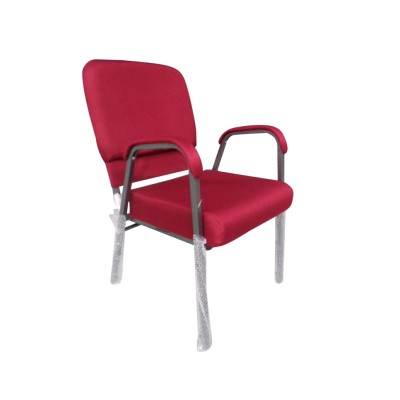 SILVER VEIN STEEL STACKING CHURCH CHAIR CA117 WITH ARMREST