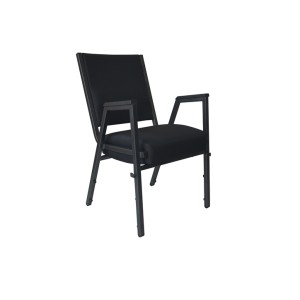 BLACK HAMMER STEEL HEAVY DUTY CHURCH CHAIR CA117 WITH ARMREST