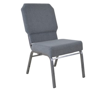SILVER VEIN STEEL HEAVY DUTY CHURCH CHAIR CA117-GREY FABRIC